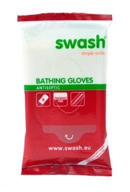 SWASH® Bathing Gloves Antiseptic 8-pack