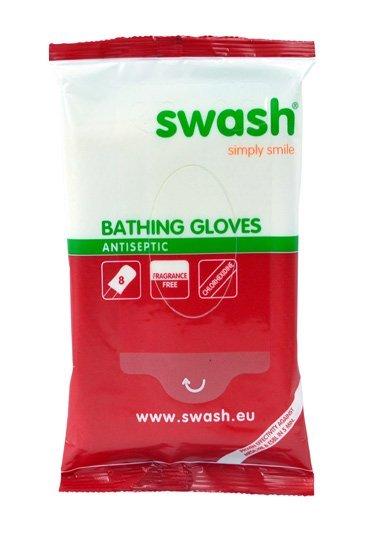 Bathing gloves antiseptic
