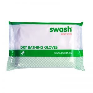 Dry bathing gloves