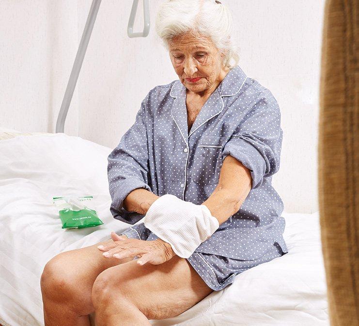 Ældre kvindevaskeklud